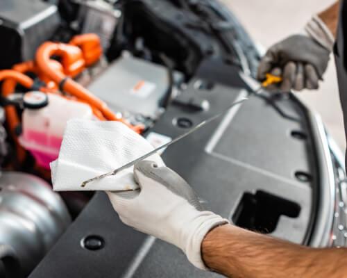 Car Oil Level Check